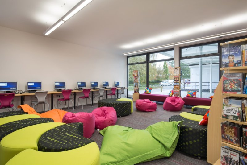 Vibrant Library for School