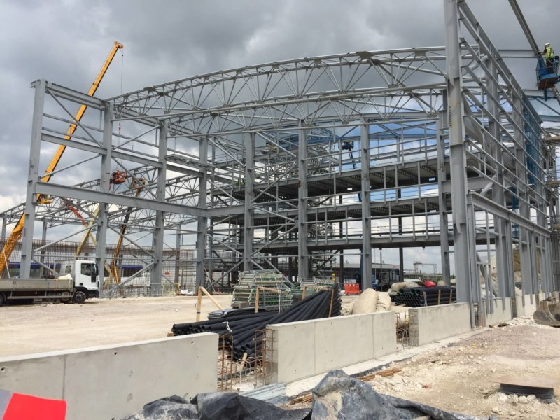 Huge Research Support Building on Site