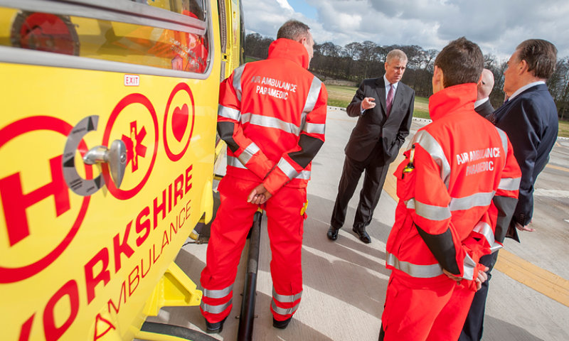 Royal Opening for Air Ambulance Facility